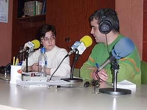 María Dolores Marín en los estudios de Radio Rute