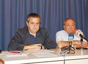 Salvador Fuentes junto a Ernesto Hernández