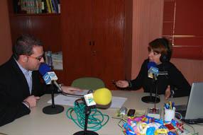 José Macías en las instalaciones de Radio Rute