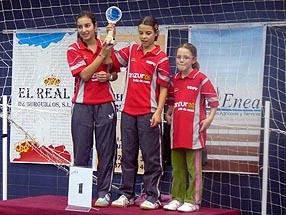 Las jugadoras ruteñas subieron a lo más alto del podio en la categoría alevín