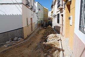 Estado de las obras en la calle Pedro Gómez