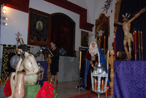 Teresa Arcos en un momento del pregón