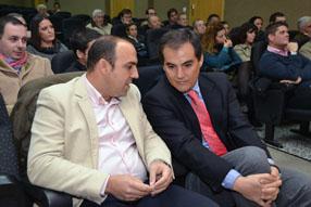 David Ruiz y el resto de los populares ruteños  estuvieron arropados por representantes provinciales como el presidente  cordobés José Antonio Nieto