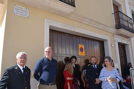 Juan Caballero recibió el cariño y el homenaje  de los representantes públicos, de sus hijos y, por supuesto, de la Banda  Municipal