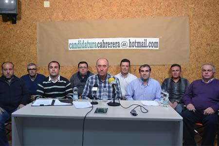Miembros de la candidatura a la cooperativa que  encabeza Francisco Cabrera
