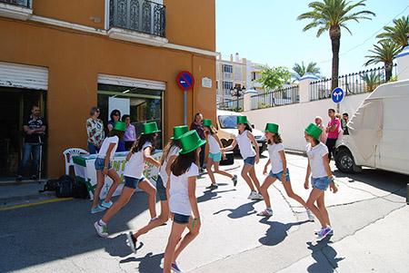 El  grupo del Club de Jóvenes para la Salud de la Junta Local realizó un flashmob