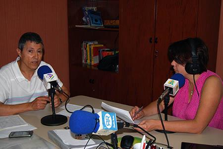 Antonio  Navajas es el encargado de la estación meteorológica en Rute