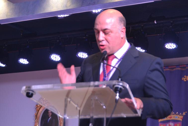 Antonio Ruiz en su primera intervención plenaria tras ser proclamado presidente de la Diputación