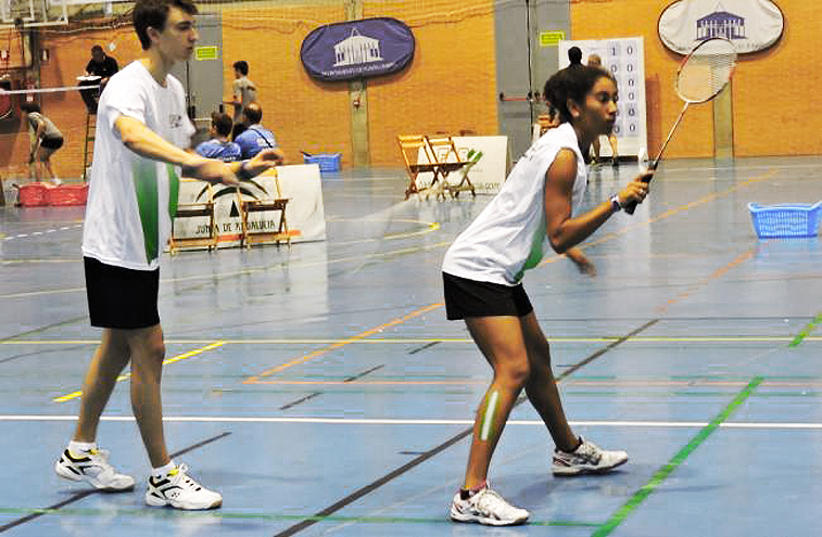 Juan de Dios también jugó en dobles mixtos con Ainhoa Cuervas