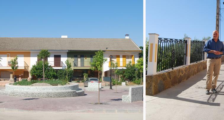 El alcalde ha visitado hoy las obras de la plaza de los Manzanos y la cuesta del Yesar de Zambra
