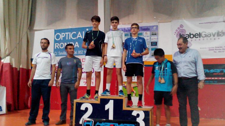 El ruteño Ángel López subió a lo más alto del podio en categoría sub-15