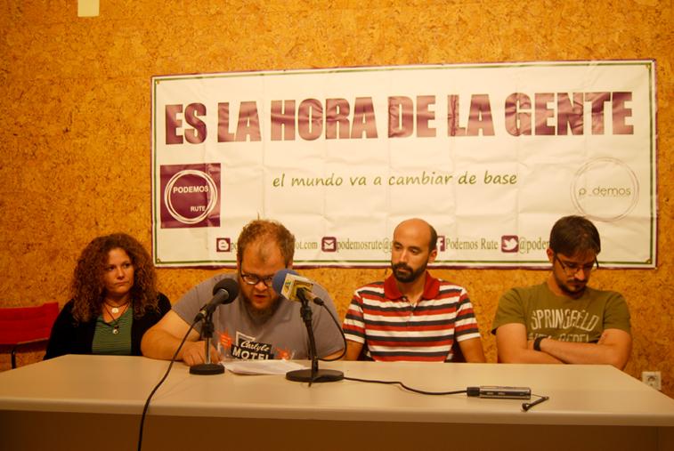 Lara Gámez, David Beato, José Miguel Burgos y Rubén Ronda  durante su comparecencia pública