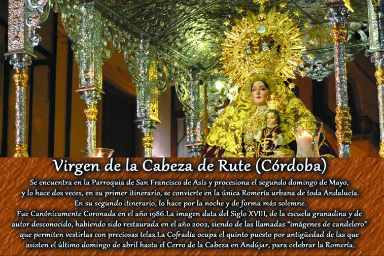 Para la publicación se ha elegido una imagen del recorrido nocturno de la Virgen de la Cabeza