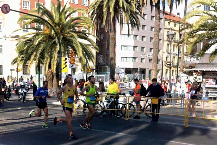 Ariza asegura que se sintió bien desde primera hora y pudo correr con mucha soltura por las calles de Málaga