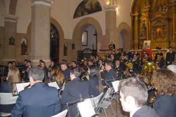 La Banda Municipal ofreció un pequeño concierto, antesala de lo que se podrá escuchar en Semana Santa en las calles