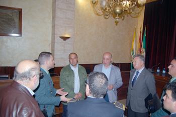 Algunos miembros y participantes de la Junta de Seguridad celebrada en Rute