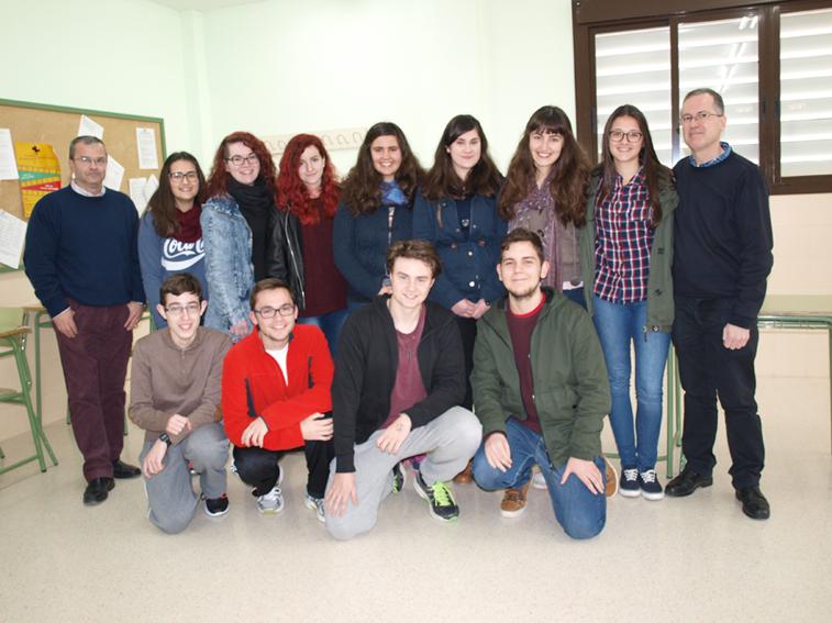 Los once estudiantes han sido seleccionados entre treinta que han participado en la fase previa interna