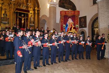 El concierto de la Agrupación Santo Ángel Custodio llegó como colofón al triduo organizado por la cofradía de la Borriquita