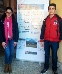 Los dos estudiantes que han ido a esta fase, María Villa y Víctor Haro