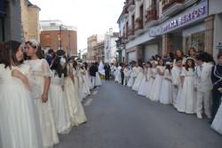 Como es habitual, los niños y niñas de comunión formaron parte del cortejo procesional