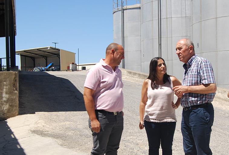 : Una de las visitas de los populares en campaña ha sido a la Cooperativa Agrícola de Rute