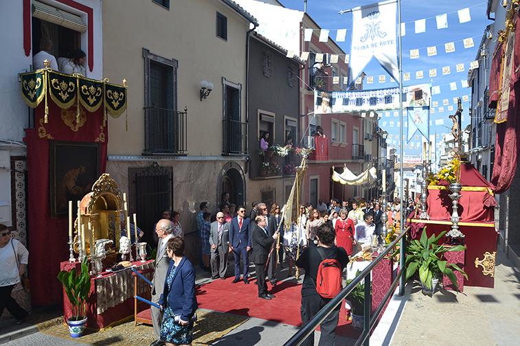 La calle Priego era la vía donde se concentraba el mayor número de altares