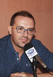 José Macias en los estudios de Radio Rute