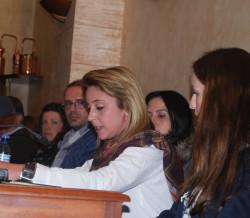 La concejala Mónica Caracuel dio lectura a un manifiesto contra la violencia de género