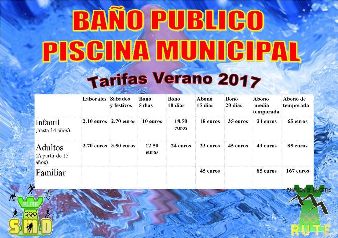 Tarifas de la piscina municipal 2017 radio rute 107 8 fm for Piscina municipal fuenlabrada 2017